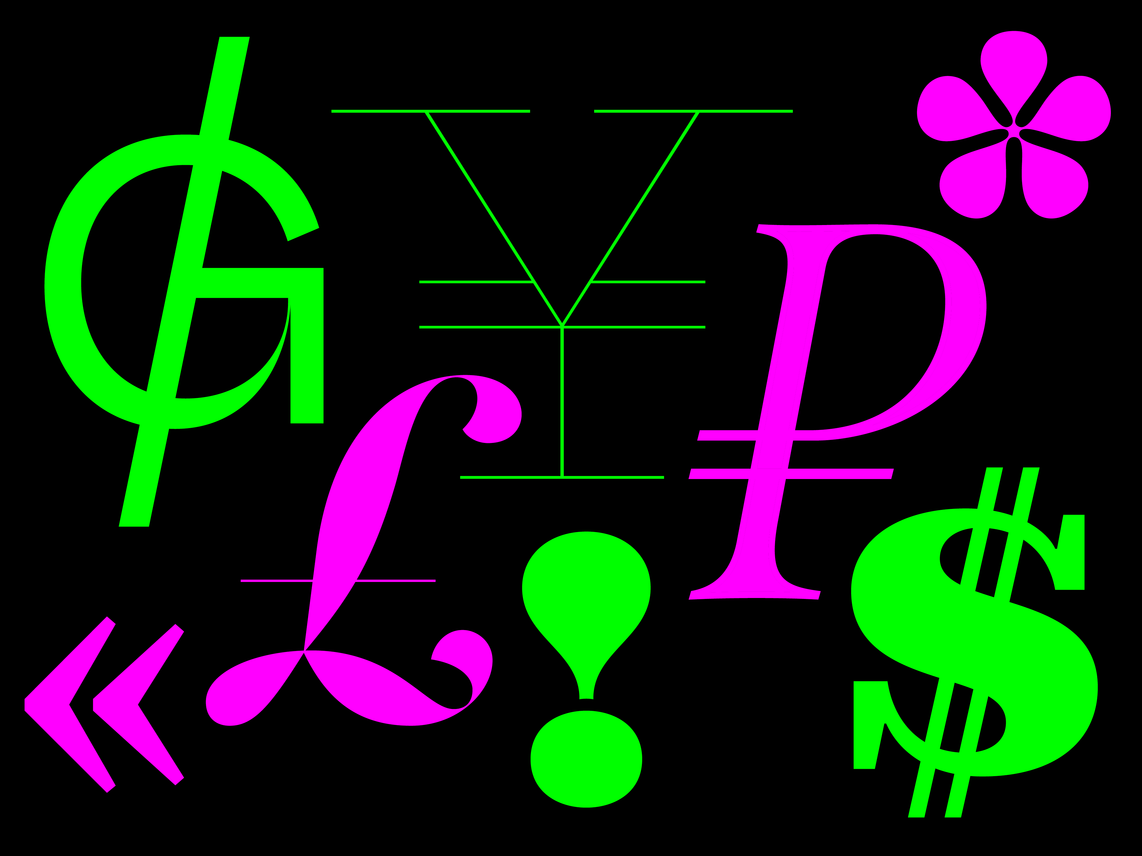 Random Glyphs